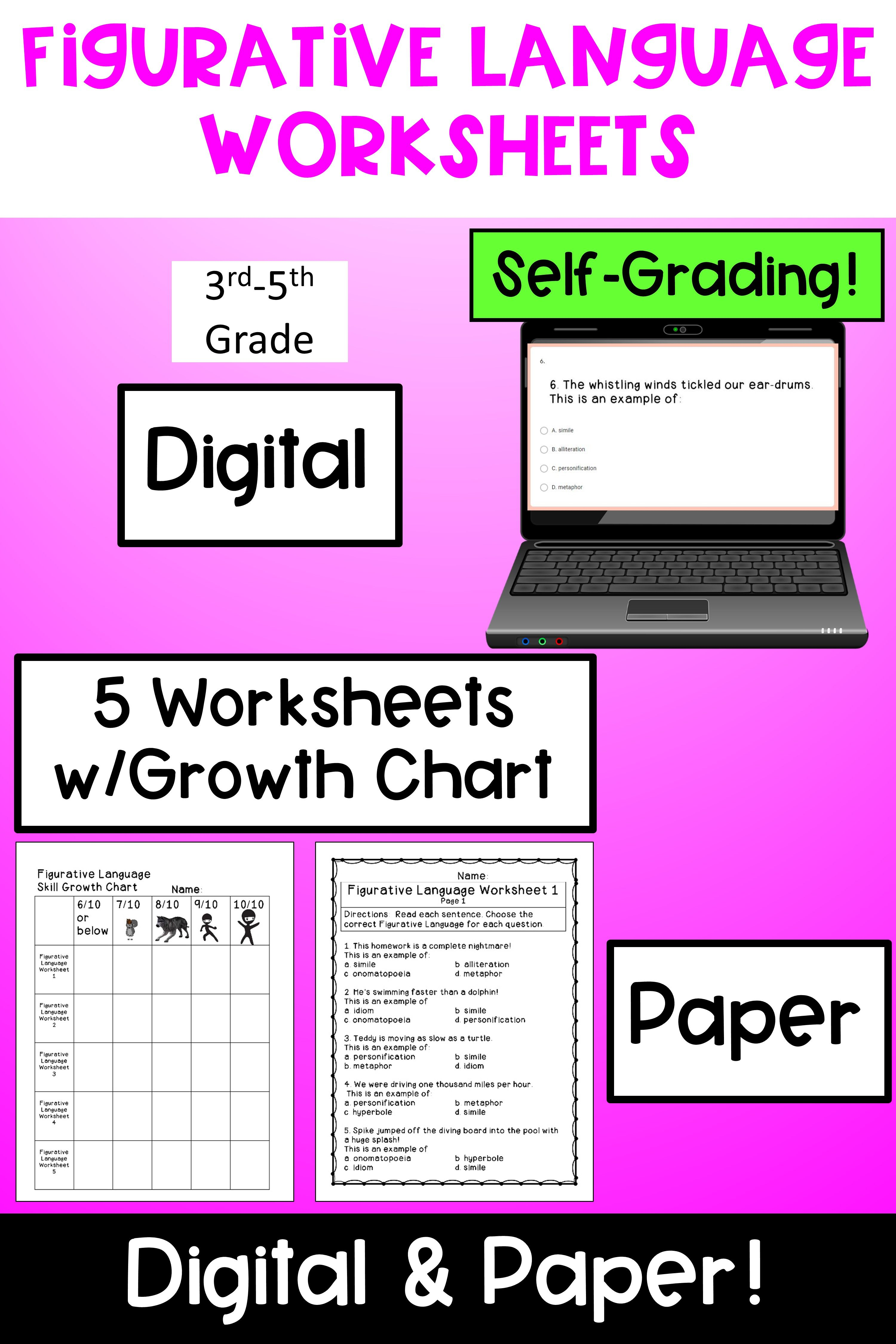 Figurative Language Worksheets In