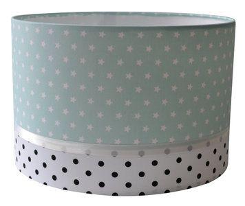mintgroene babykamer lamp, luxe lamp in mint kleur met sterretjes, Deco ideeën