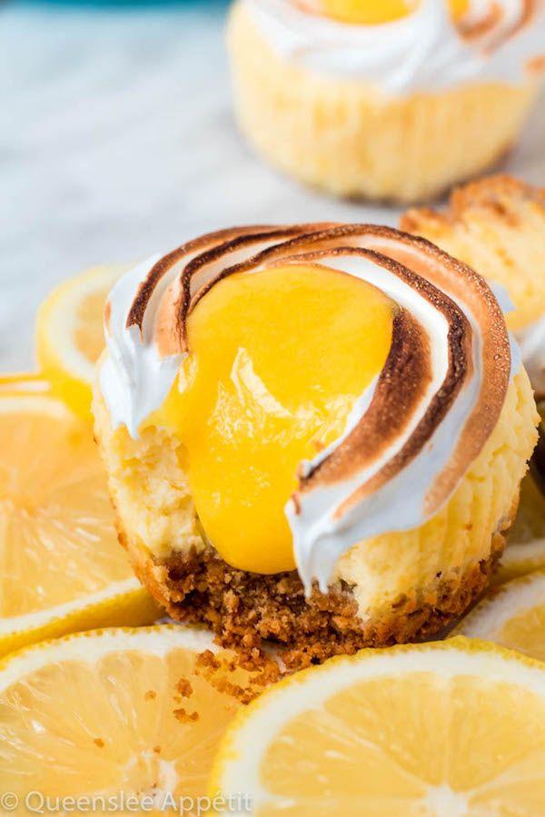 Mini Lemon Meringue Cheesecakes ~ Recipe | Queenslee Appétit