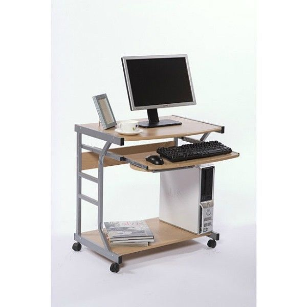Computer Desk On Wheels Small Spaces Home Gaming Mobile Workstation Dorm Office Simpleliv Computer Desks For Home Desks For Small Spaces Home Office Furniture