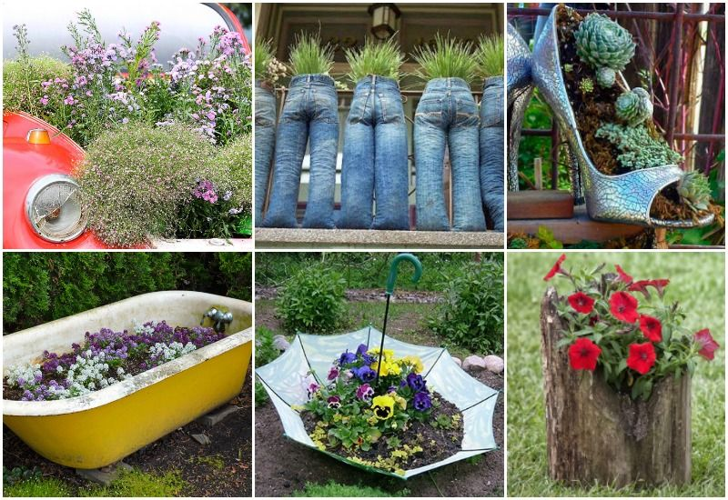 20 Out Of The Ordinary Recycled Garden Planters Recycled Garden