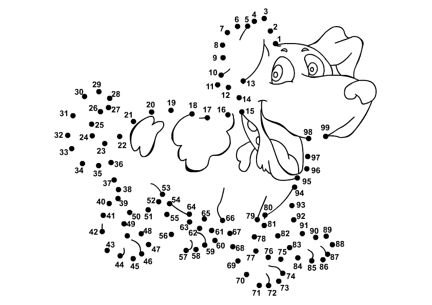 Connect Number 199 prek – Math Dot to Dot Worksheets