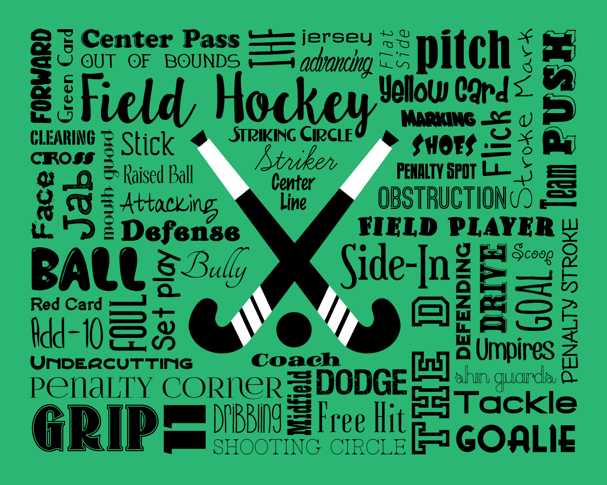 This Item Is Unavailable Field Hockey Personalized Word Art Words