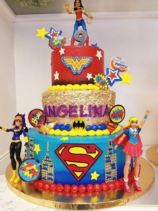 Cool D C Superhero Girls Cake With Images Girl Superhero Birthday Funny Birthday Cards Online Aeocydamsfinfo