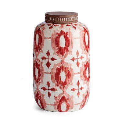 Bungalow Rose Ikat Lidded Jar