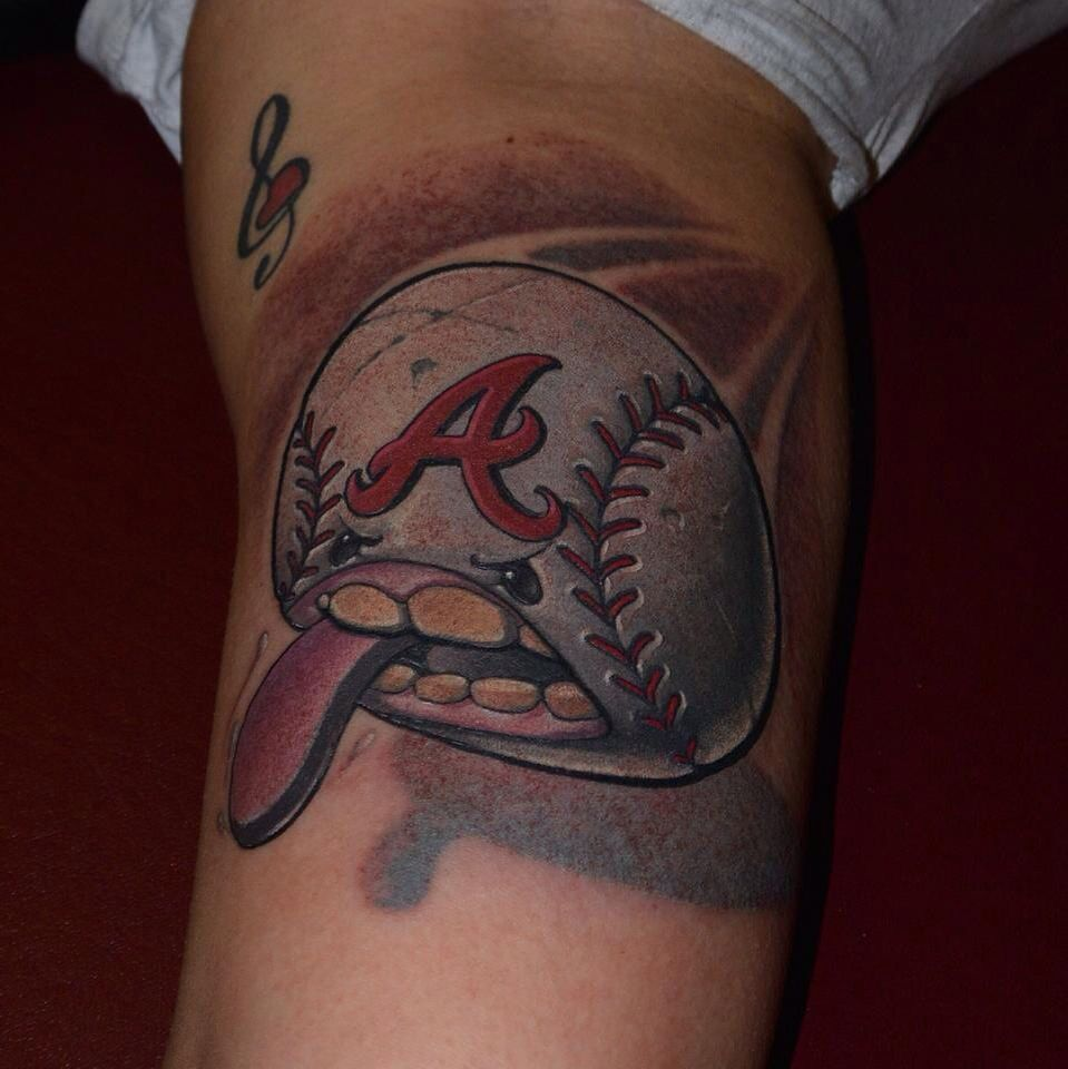 My Atlanta Braves Tattoo Snactoo By Craig Foster Atlanta Tattoo Atlanta Braves Tattoo Be Brave Tattoo
