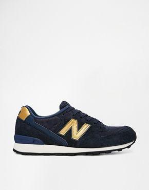 New Balance 996 Bleu Et Gold