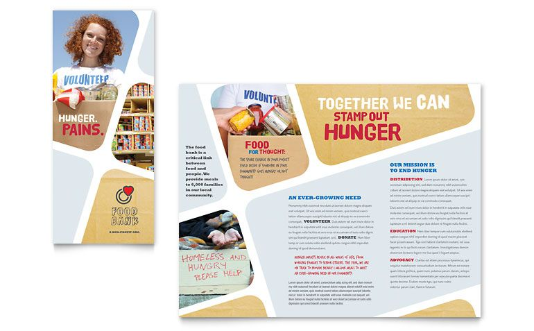 Food Bank Volunteer Brochure Template Design Brochure - Brochure publisher template