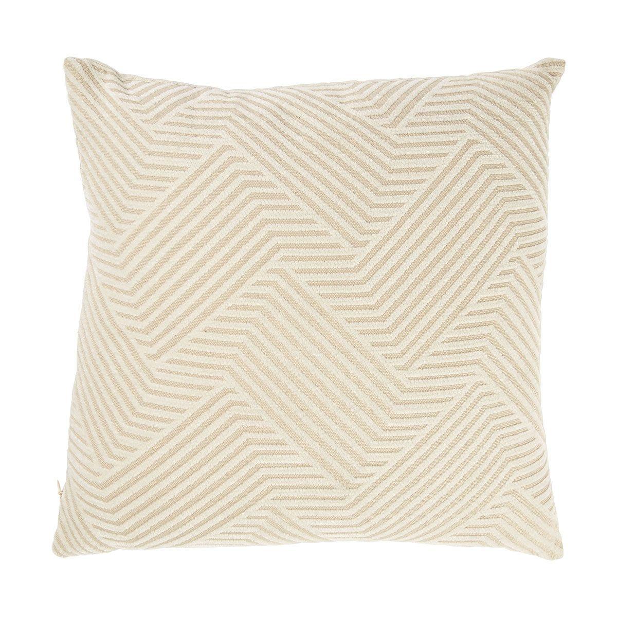Chenille Cushion Geo, Creme Cushions, Sofa set