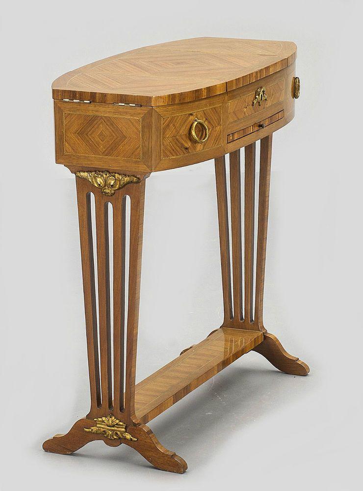 Poudreuse Louis Xvi Um 1800 Schminktisch Beistelltisch Tisch