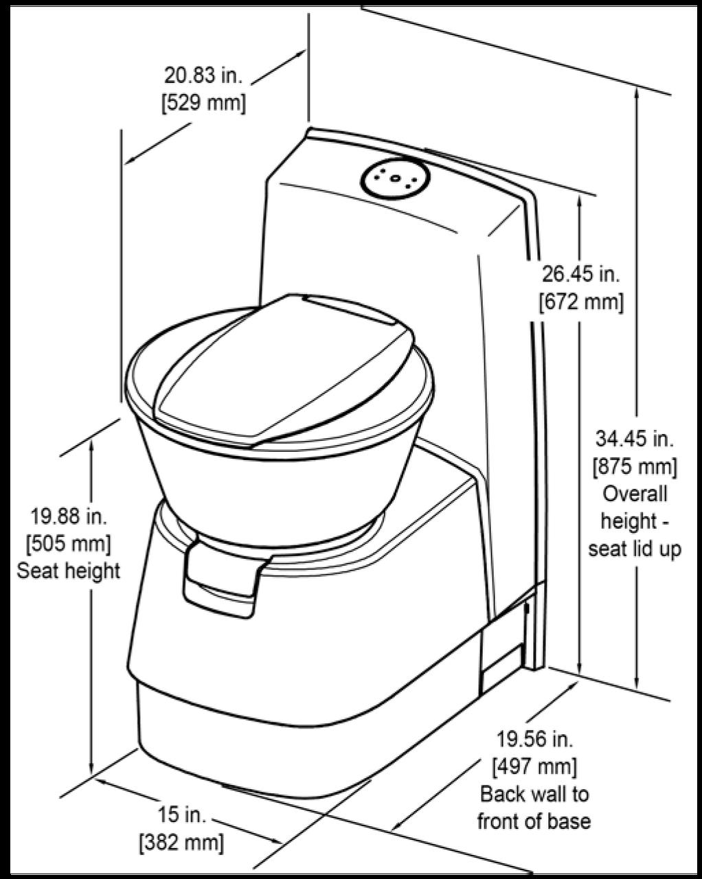 Wondrous Dometic Cts4110Us 1 Lightweight Rv Van Cassette Toilet Short Links Chair Design For Home Short Linksinfo