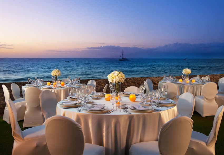 Wedding Reception With Ocean View Photo Courtesy Of The Westin Maui Resort Spa