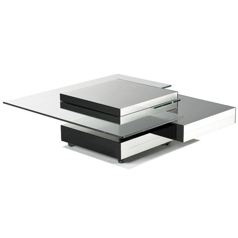 Contemporary Glass Multi Level Coffee Table Buy Glass Coffee