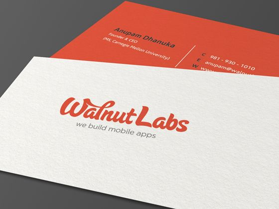 Walnut labs business card business cards design pinterest walnut labs business card business cards design pinterest business cards and simple business cards reheart Choice Image