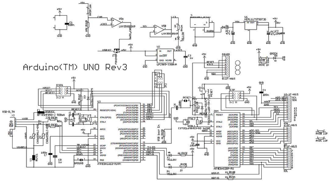 schematic diagram of arduino uno atmega328 arduinouno arduino rh pinterest com
