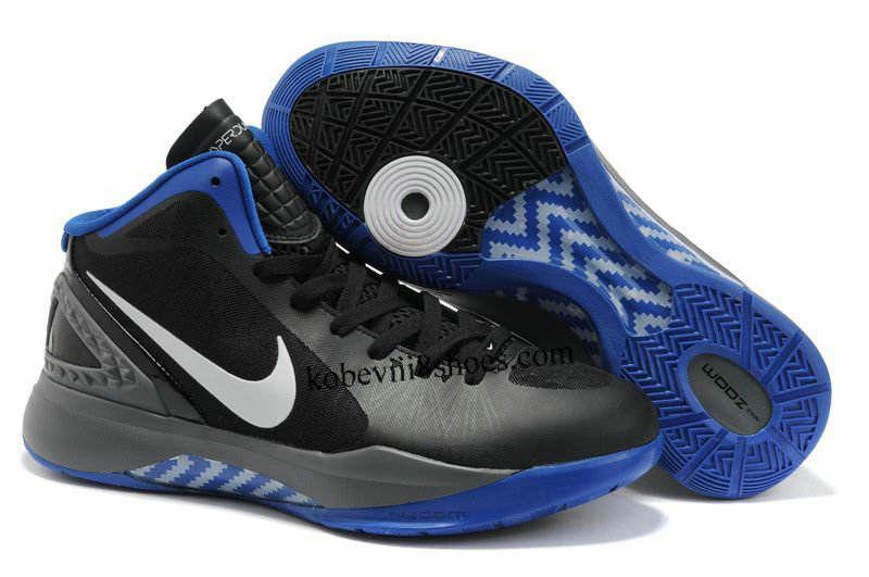 huge sale 2640a b8746 ... official store cheap nike zoom hyper dunk 2012 men black blue war boots  cheap nike hyperdunk