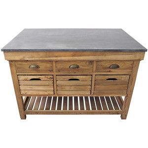 Marble Top Crate Kitchen Island