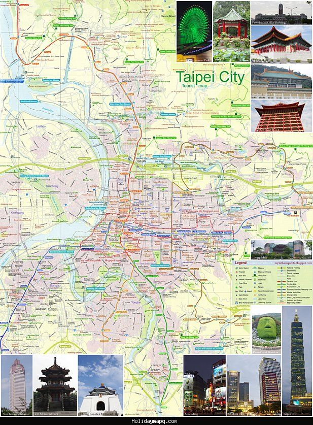 cool taipei map tourist attractions