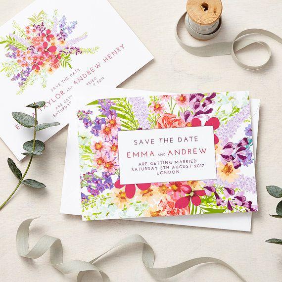 The Secret Garden Wedding Stationery Design Features A