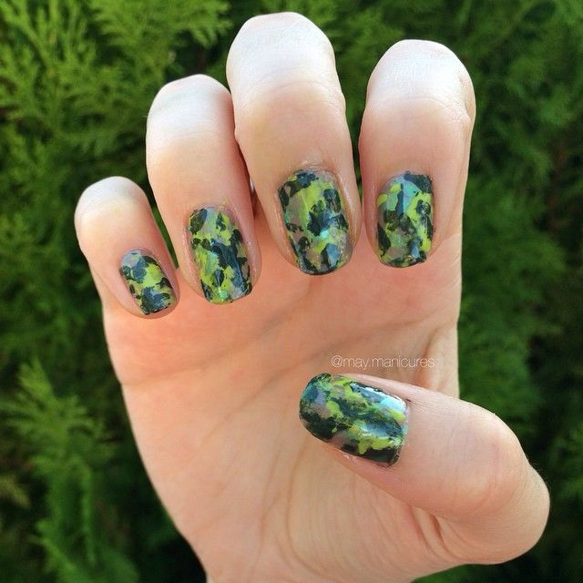 Camo Polishes Used: NYC- Big Money Frost Sinful Colors- Innocent ...
