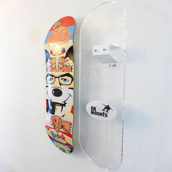 Skateboard Deck Wall Mount Bracket By