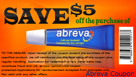 image about Abreva Coupon Printable known as $5 Abreva Coupon, $3 Abreva Coupon, No cost Printable Abreva