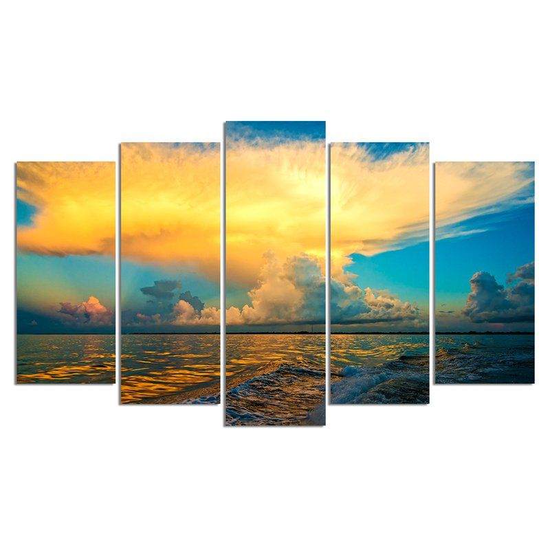 Ready2HangArt Golden Cloud II Canvas Wall Art - 5 pc. Set - BB156 ...