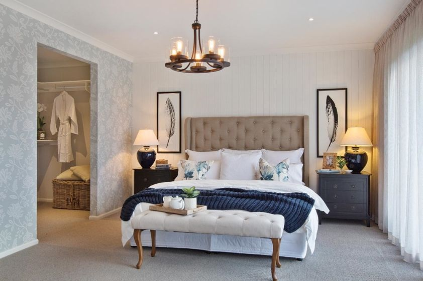 Master Bedroom In The Classic Hamptons Interior Style By