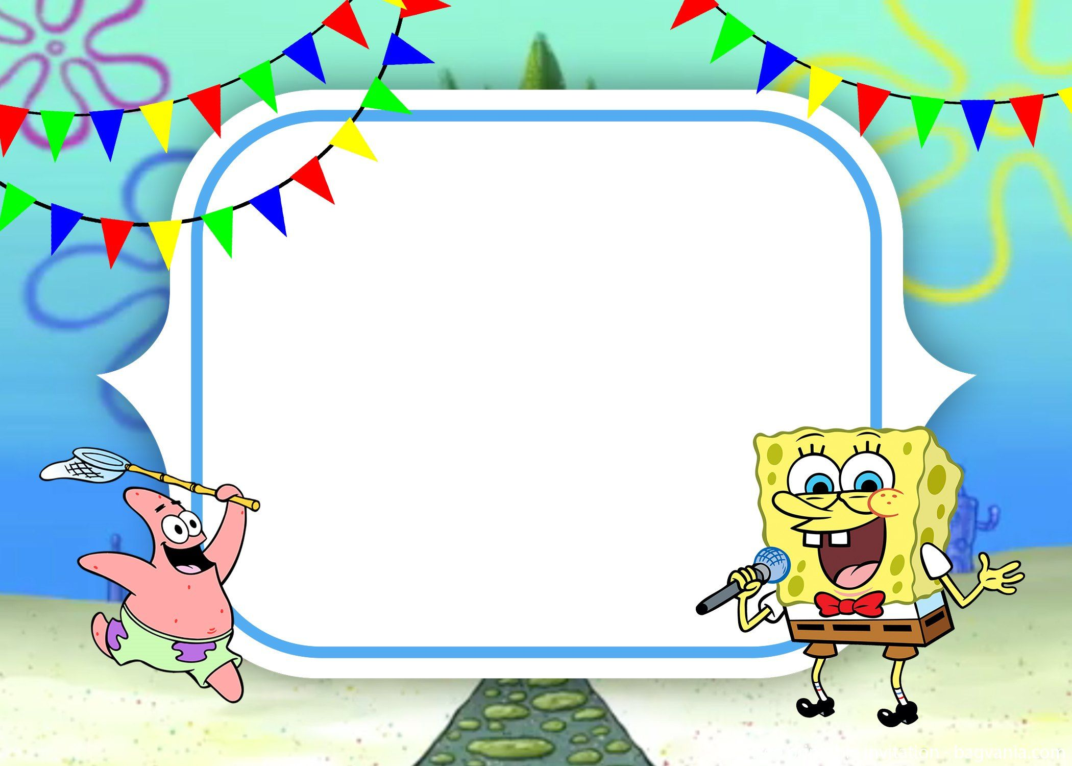 Free Spongebob Invitation Template Bagvania Invitation In 2019
