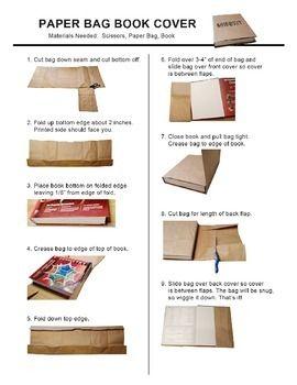Paper Bag Book Cover | teaching | Paper bag