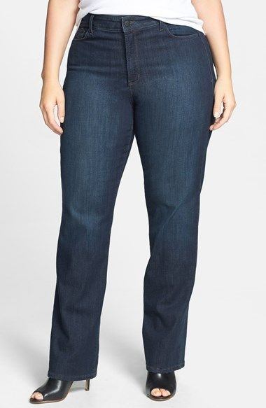 NYDJ 'Marilyn' Stretch Straight Leg Jeans (Harrington) (Plus Size) available at #Nordstrom