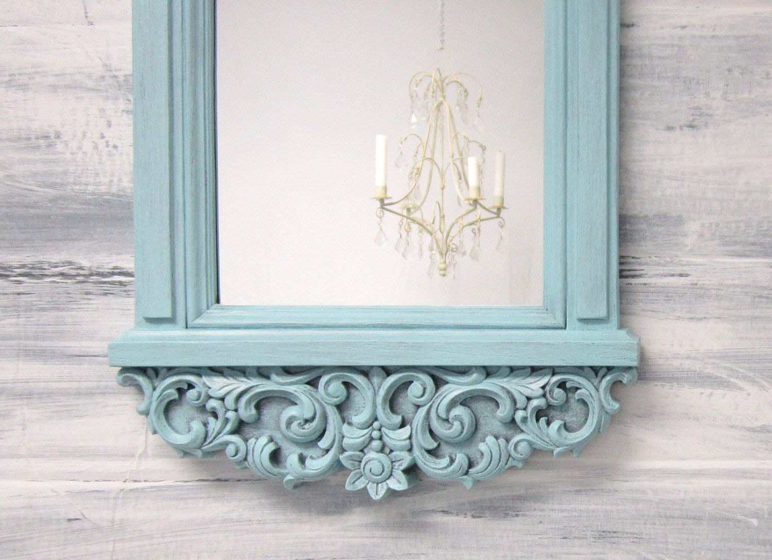 White hollywood regency mirror for sale decor wall mirror - Shabby chic decor for sale ...