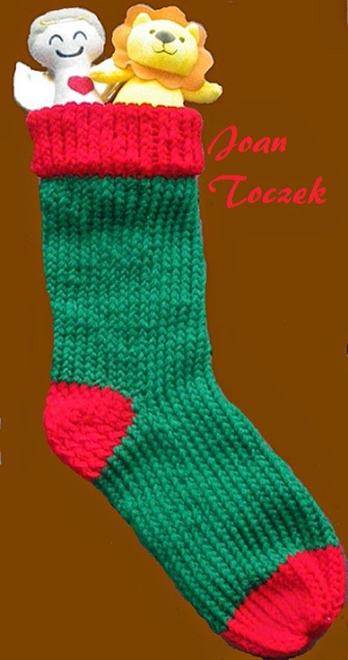 The Knifty Knitter Christmas Stocking Pattern For The