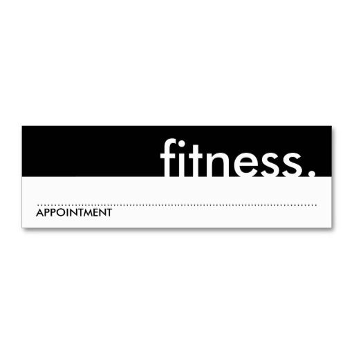 Fitness (appointment card) mini business card Appointments