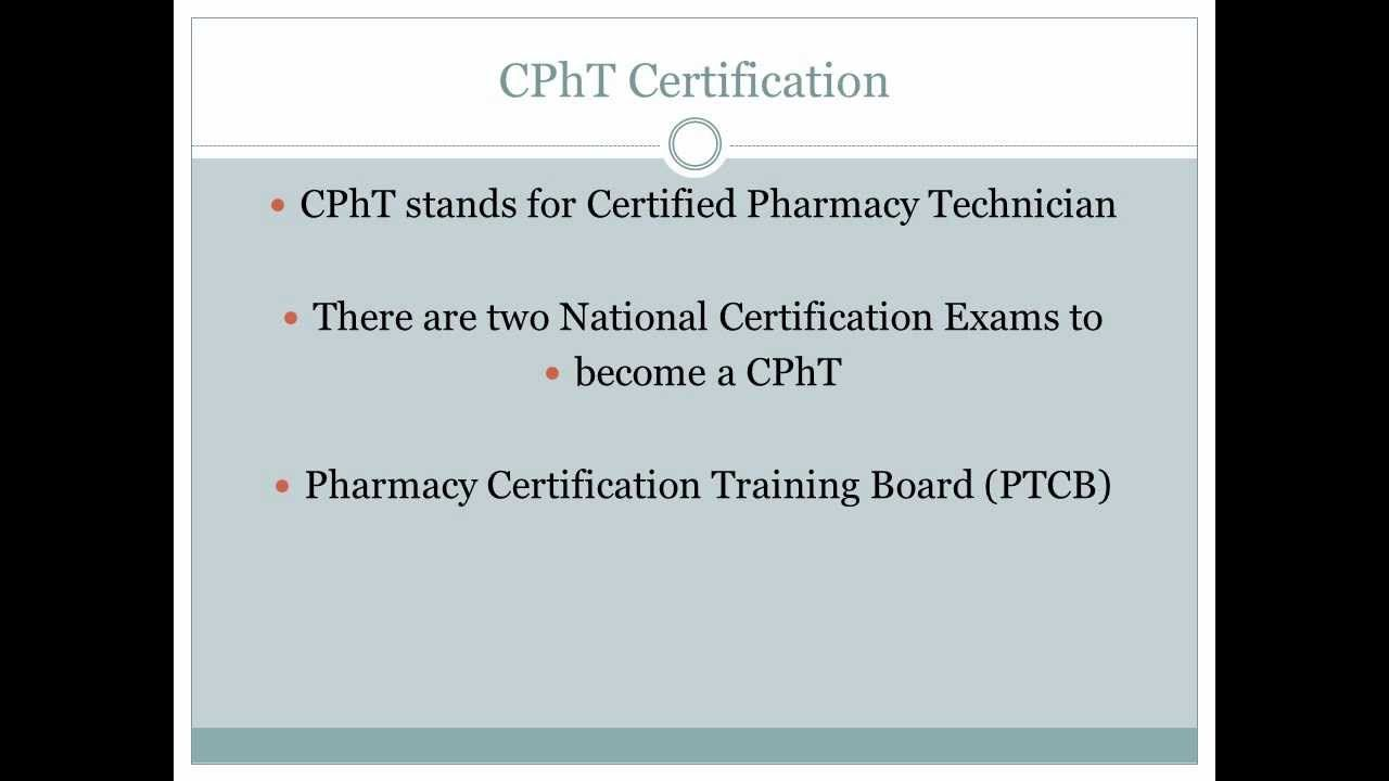 About The Pharmacy Technician Certification Exam Ptcb Study Exam