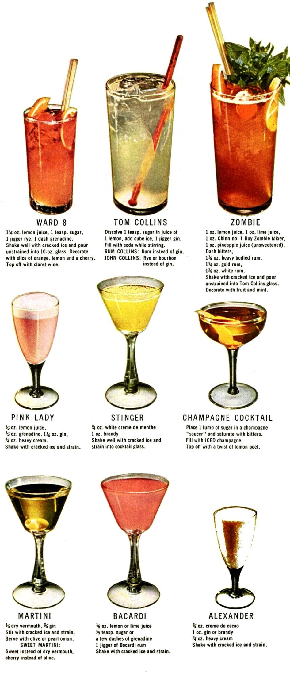 How To Make 30 Classic Cocktails Drinks 1946 Alcoholic Drinks Classic Cocktails Classic Cocktail Recipes