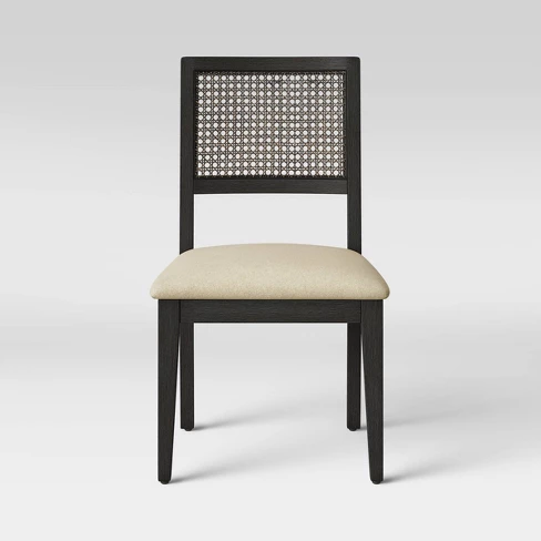 Kelly Cane Dining Chair Black Beige Threshold Target Cane