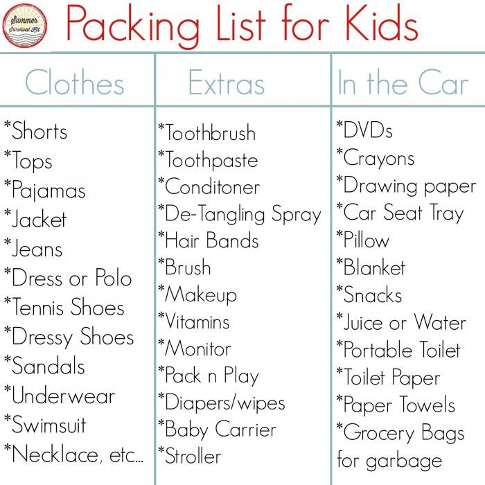 ROAD TRIP TIPS FOR KIDS Road Trip Packing ListRoad TipsBeach