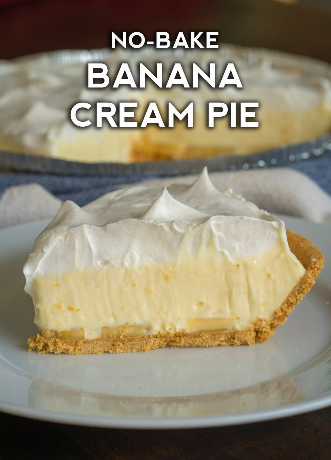 No Bake Banana Cream Pie Recipe Banana Cream Pie Cream Pie Recipes Banana Pie Recipe