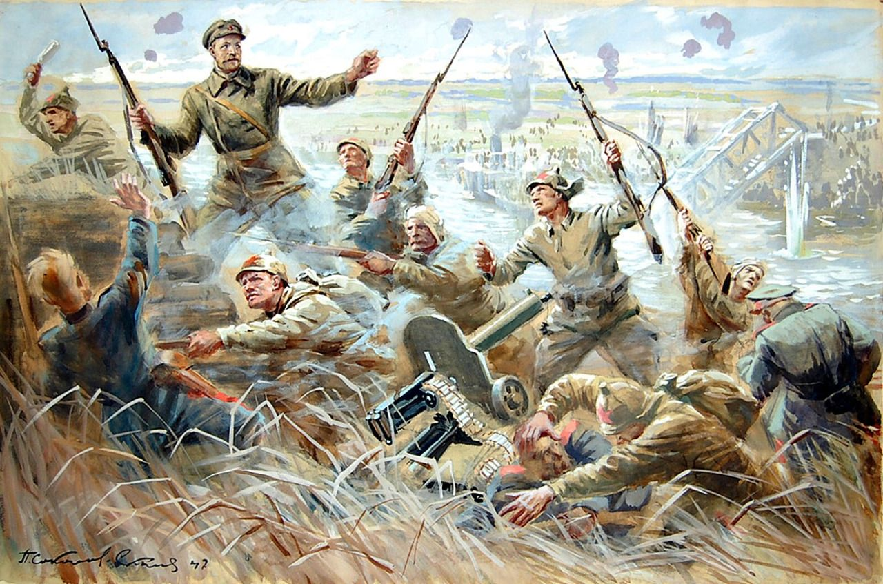 Guerra civil rusa - cruce del Dnieper | Imperial Russian Armies ...