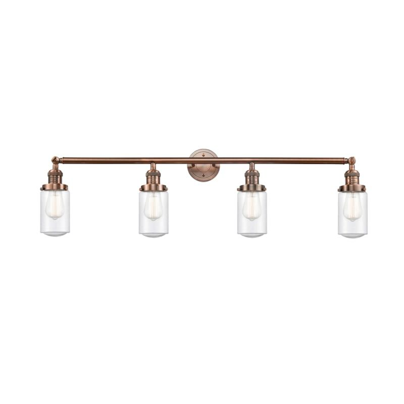 """Photo of Innovations lighting 215 Dover Dover 4 Light 43 """"wide bathroom basin lamp antique copper / Seedy interior lighting bathroom lamps basin lamp"""