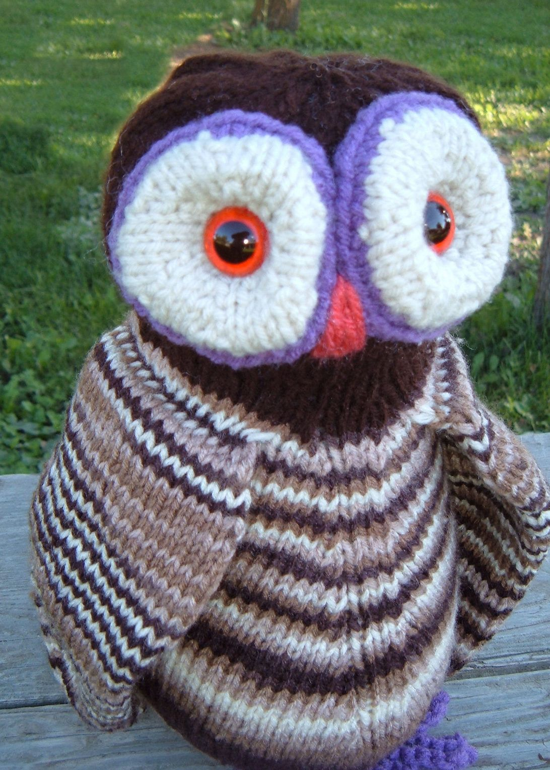 Free Knitting Pattern for Ollie O\'Owl - This adorable owl toy softie ...