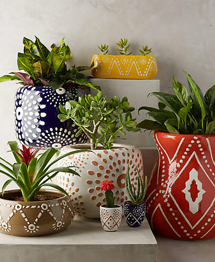 Anthropologie Inspired Planters Plants Flower Pots Diy Pots