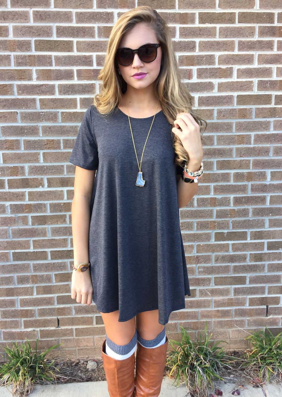Gray t shirt dress fashion pinterest gray clothes and fall winter