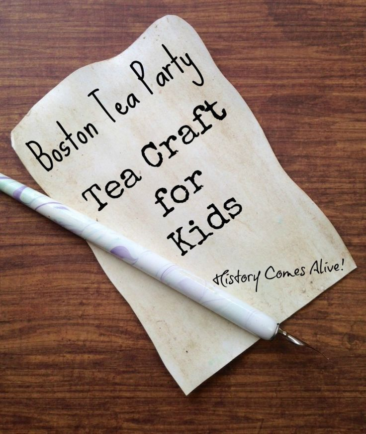 Boston tea party history tea craft for kids how to stain