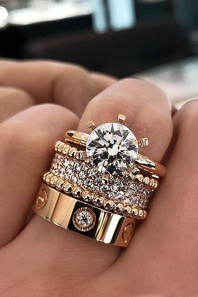 10 Fresh Engagement Ring Trends For 2018 Gold diamond