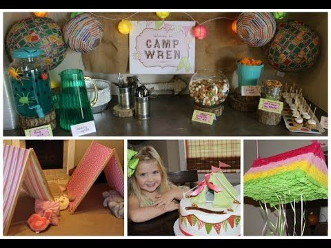 The Subfertile Frugalista: Welcome to Camp Wren! | Camping Themed 4th Birthday Party