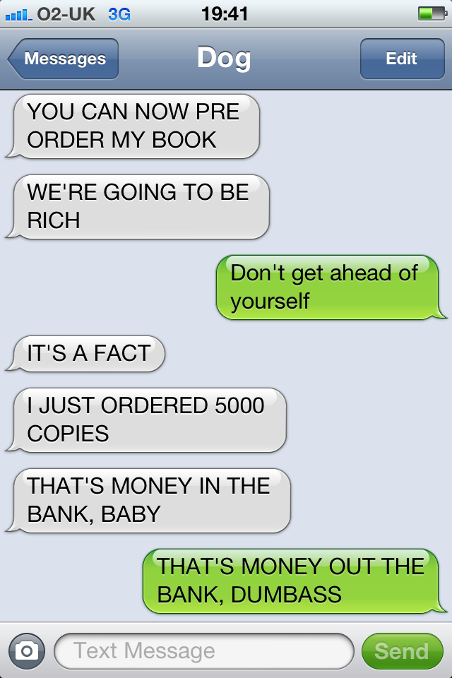 Money In The Bank Random Insanities Pinterest Dog Texts