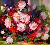 cuadros al oleo de flores