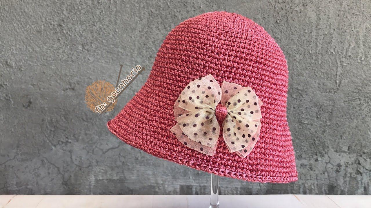 Crochet] Baby Hat | Móc mũ tiểu thư cho bé | MÓC NÓN NGƯỜI LỚN ...